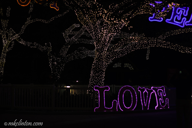 Peace and love in lights