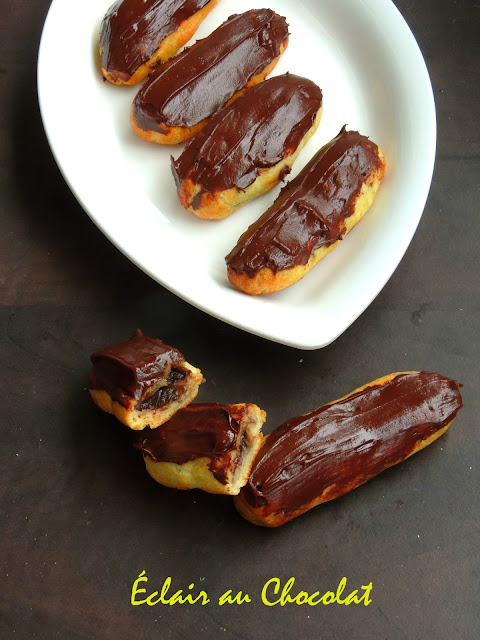 Éclair au Chocolat, French Pastry Chocolate Eclairs