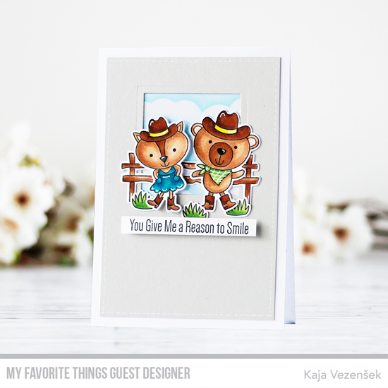Handmade card by Kaja Vezensek featuring products from My Favorite Things #mftstamps