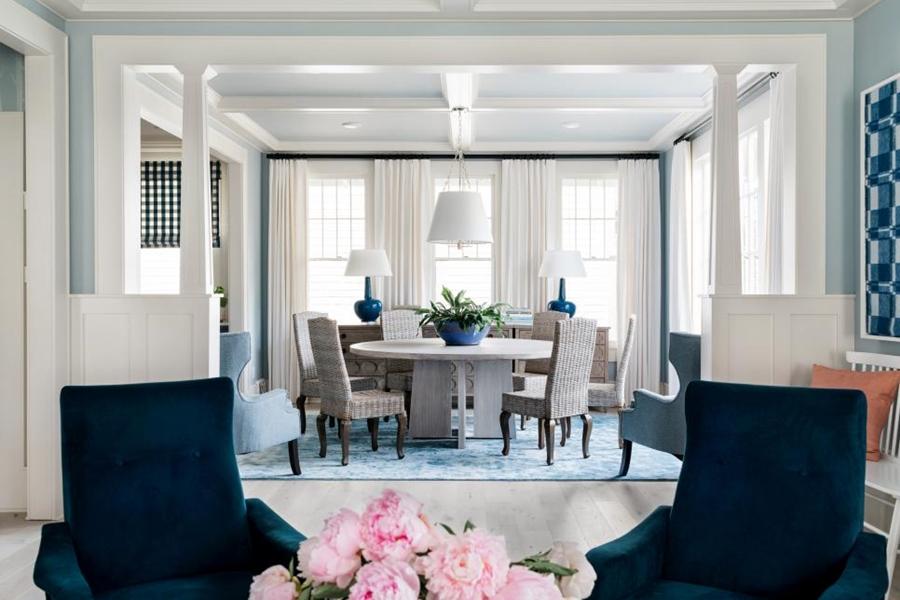 Niebieskie szaleństwo - metamorfoza całego domu, wystrój wnętrz, wnętrza, urządzanie mieszkania, dom, home decor, dekoracje, aranżacje, niebieski, blue, before and after, jadalnia