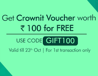 (*LOOT*) Crownit App : Download App & Get Free Rs.100 Crownit Voucher (Redeem as Amazon/Flipkart Gift Vouchers)