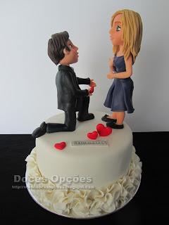 Bolo pedido casamento