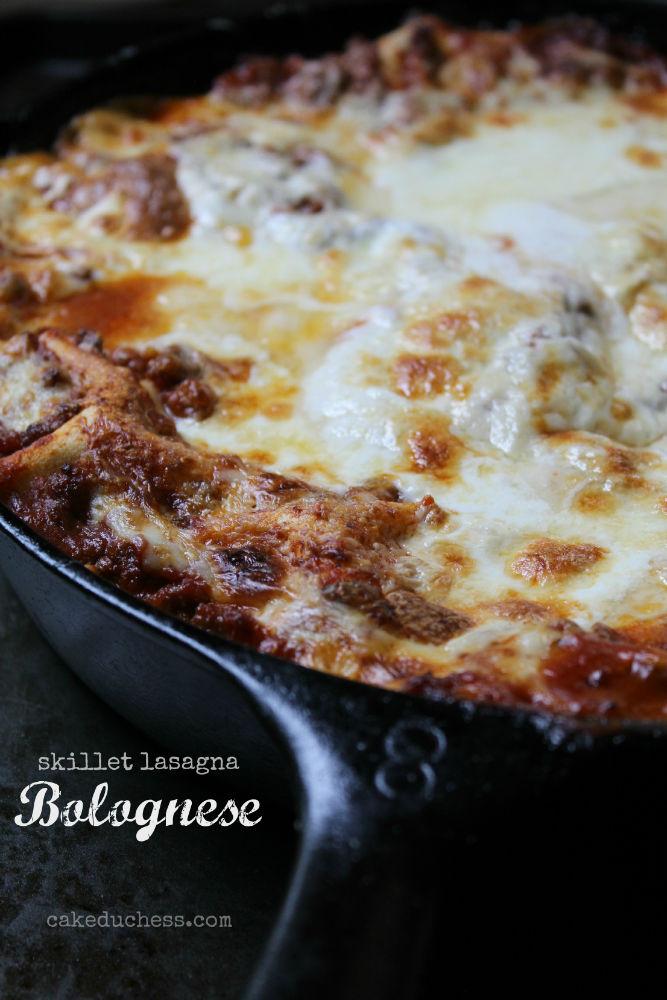 Skillet Lasagna Bolognese