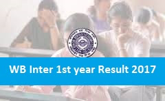 West Bengal Inter 1st year Result 2017