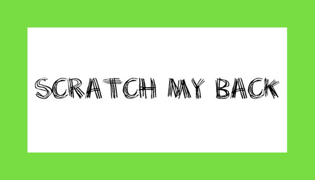 Font Scratch My Back Download
