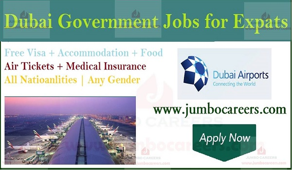 Airport jobs with accommodation, free visa jobs in Dubai,