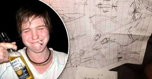 Este joven llegó muy ebrio y se puso a diseñar un avión