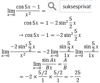 limit cos per x kuadrat