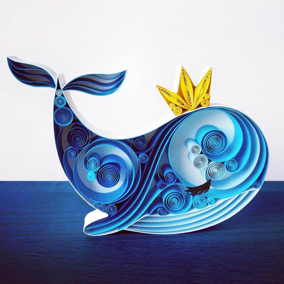 04-Blue-Whale-Sena-Runa-Quilling-Art-Animals-and-Objects-www-designstack-co