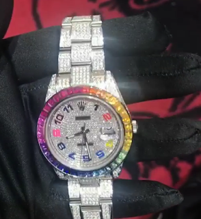 Check Out The New $1m Rainbow Diamond Rolex watch