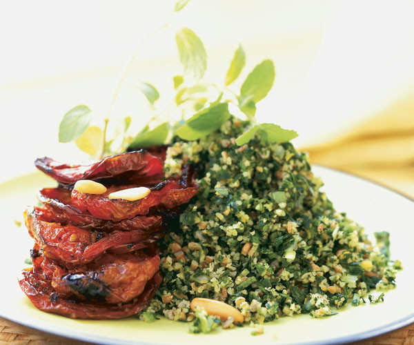 Tabbouleh Salad with Roasted Tomatoes