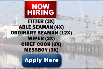 Ordinary Seaman, Messman, Wiper, Able Seaman, Fitter, Chief Cook