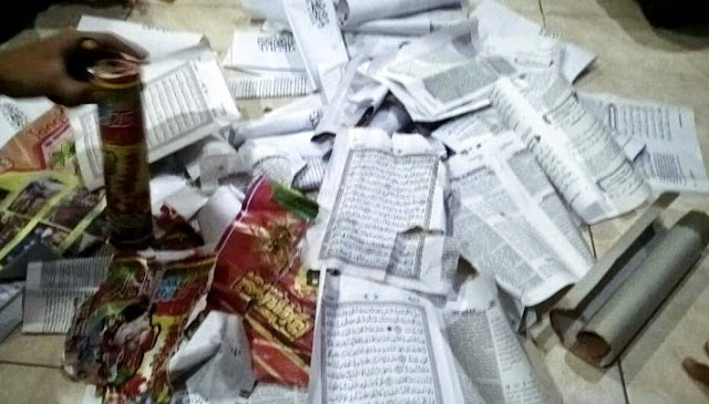 Di Daerah Ini, Beredar Kembang Api Yang Memakai Mushaf Al Quran