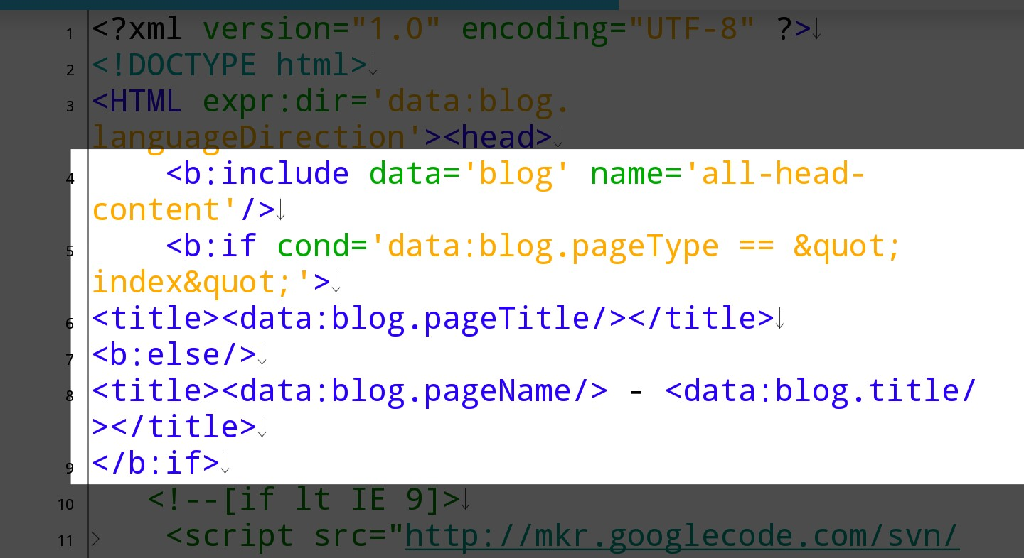 How to configure blogger blog title tags - step 4b
