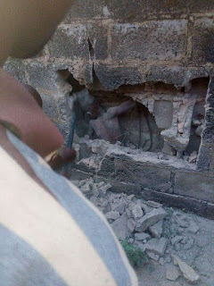 Mysterious  Boy Seen in Middle of a  Concrete Wall in Ondo State [Photo ] 4
