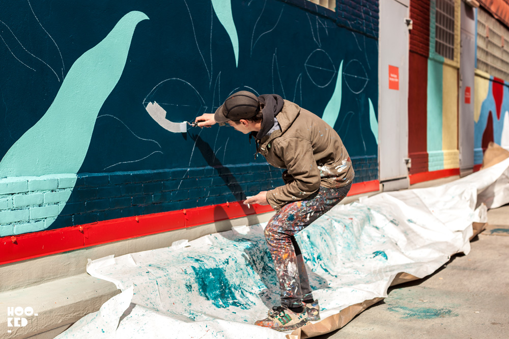 Hell'O Collective Street Art Mural in Ostend, Belgium. Photo ©Hookedblog / Mark Rigney