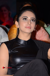 Actress Rakul Preet Singh Stills in Black Saree at Rayudu Movie Audio Launch  0045.JPG