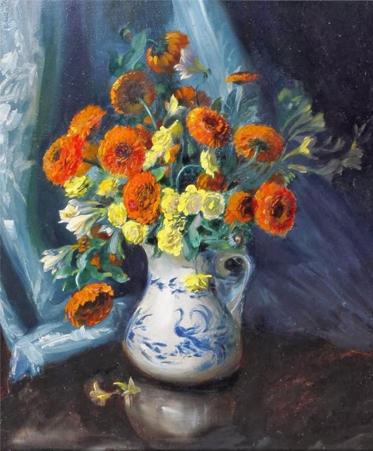 Imgenes Arte Pinturas Cuadros Bonitos Bodegones de Floreros obras de Cecil Kennedy