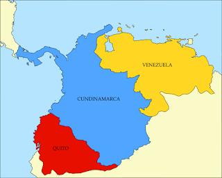 Mapa regiones Gran Colombia