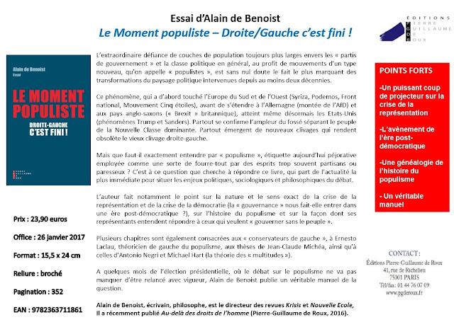 Livres d'Alain de Benoist