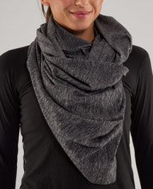 lululemon vinyasa scarf heathered black