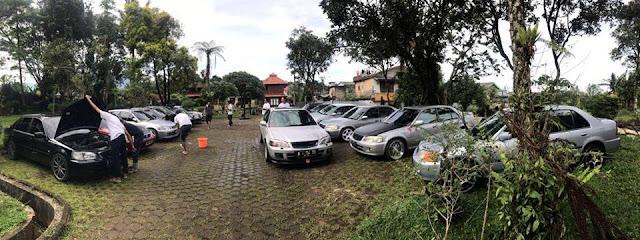 Cuci mobil bersama bareng anggota ITZC