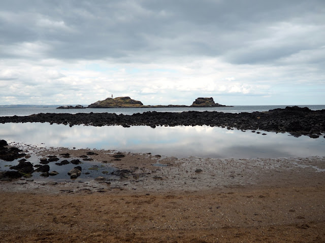 Fidra from Yellowcraigs beach, East Lothian, Scotland