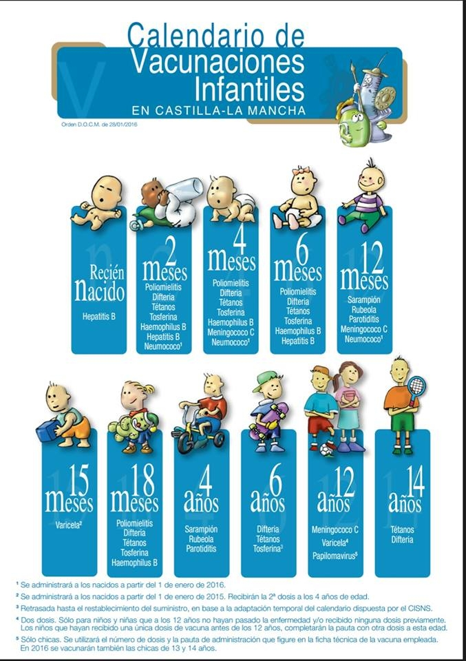 Calendario De Vacunas Infantil.La Otra Consulta Nuevo Calendario De Vacunas Infantil 2016 En