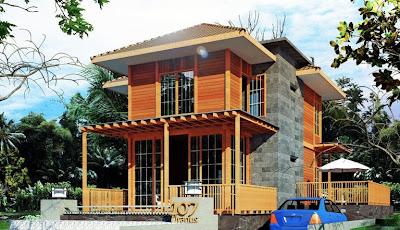 desain rumah kayu minimalis modern | modern design property