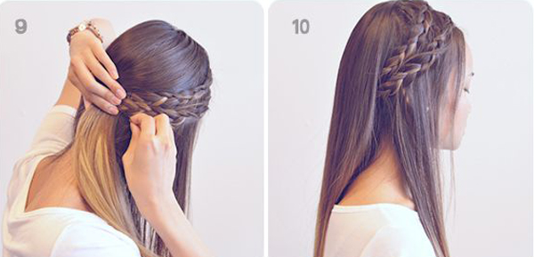 slightly loosen the braid using a bobby pin