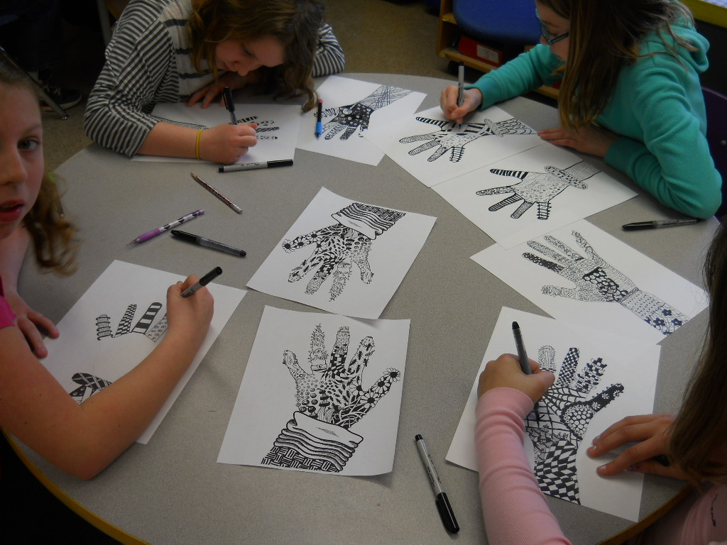 Fun Art 4 Kids Zentangle Hands