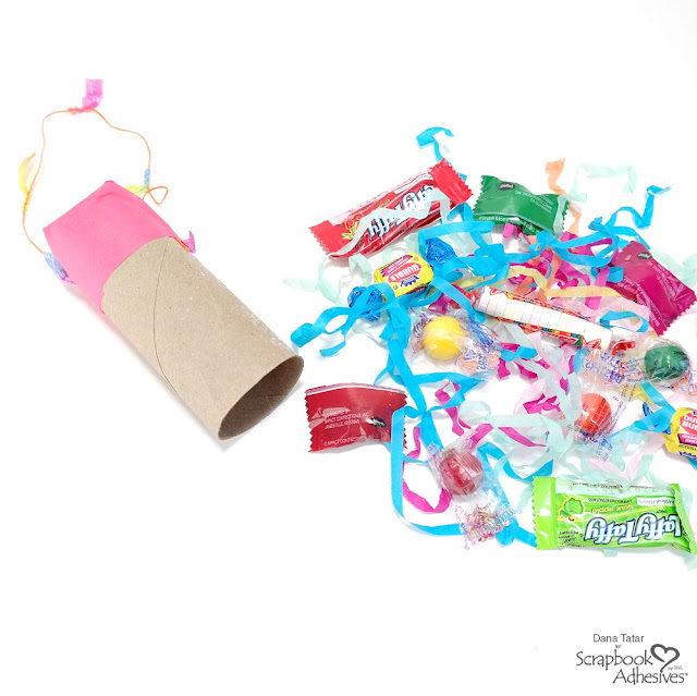 How to Fill an Empty Paper Roll with Candy to Make a Pinata