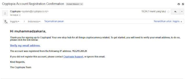 verifikasi market cryptopia