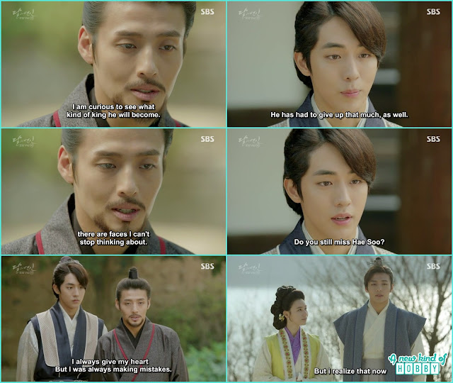 wook then told Baek ah every time he give the heart and didn't realize  - Moon Lovers Scarlet Heart Ryeo - Episode 20 Finale (Eng Sub)