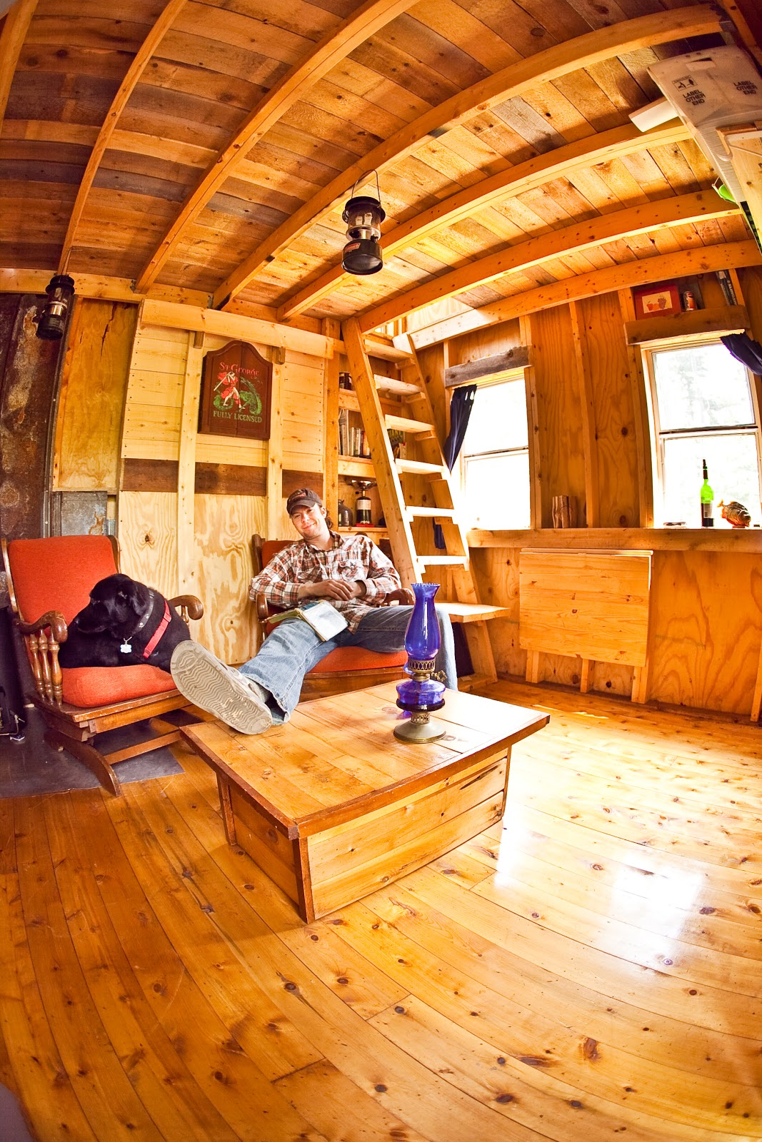 Tiny Home Designs: Woodwork Off Grid Cabin Plan PDF Plans
