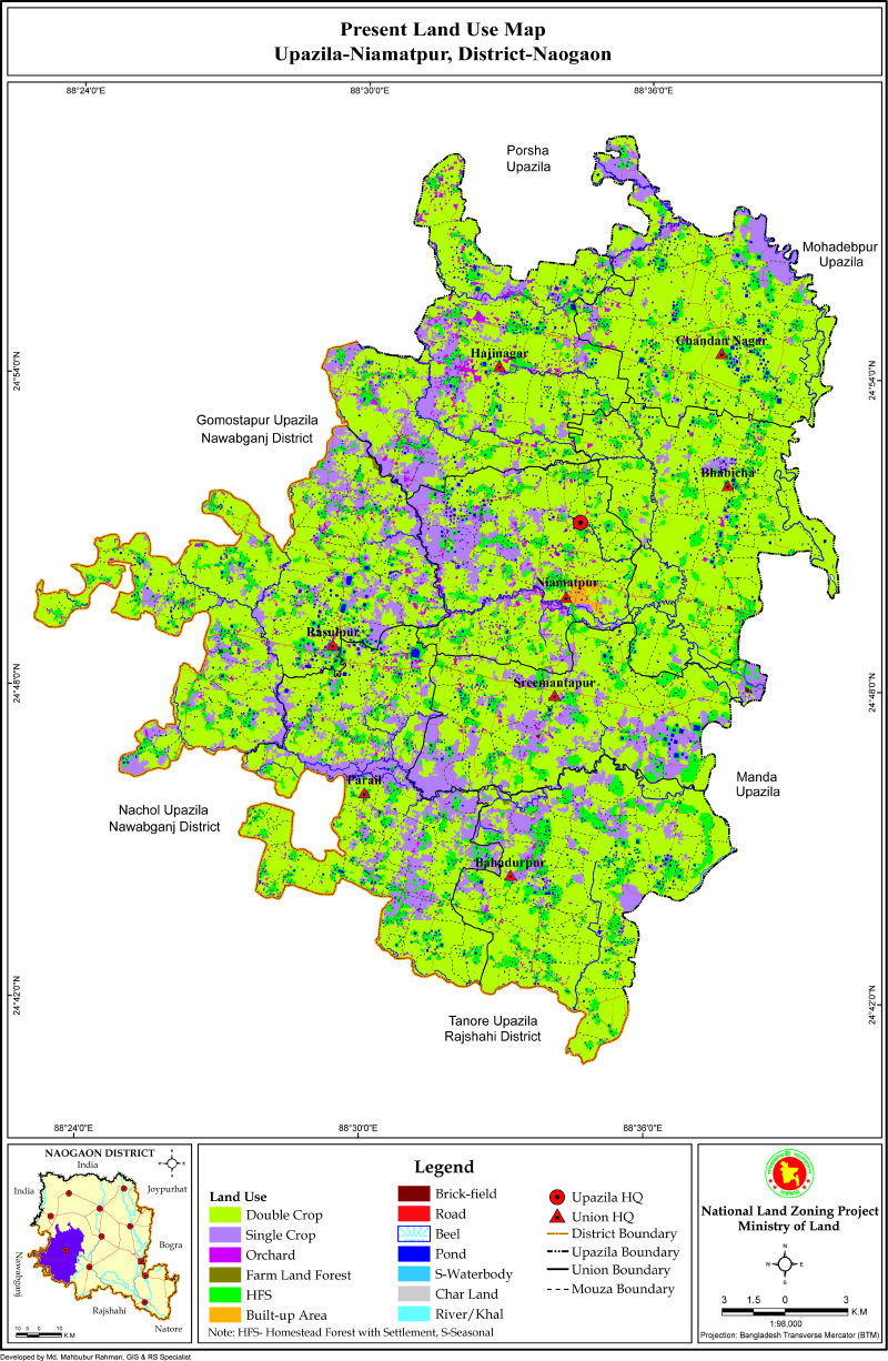 Niamatpur Upazila Mouza Map Naogaon District Bangladesh