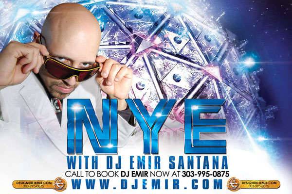 DJ Emir Mixtapes Promo Pack White Party Edition NYE Flyer