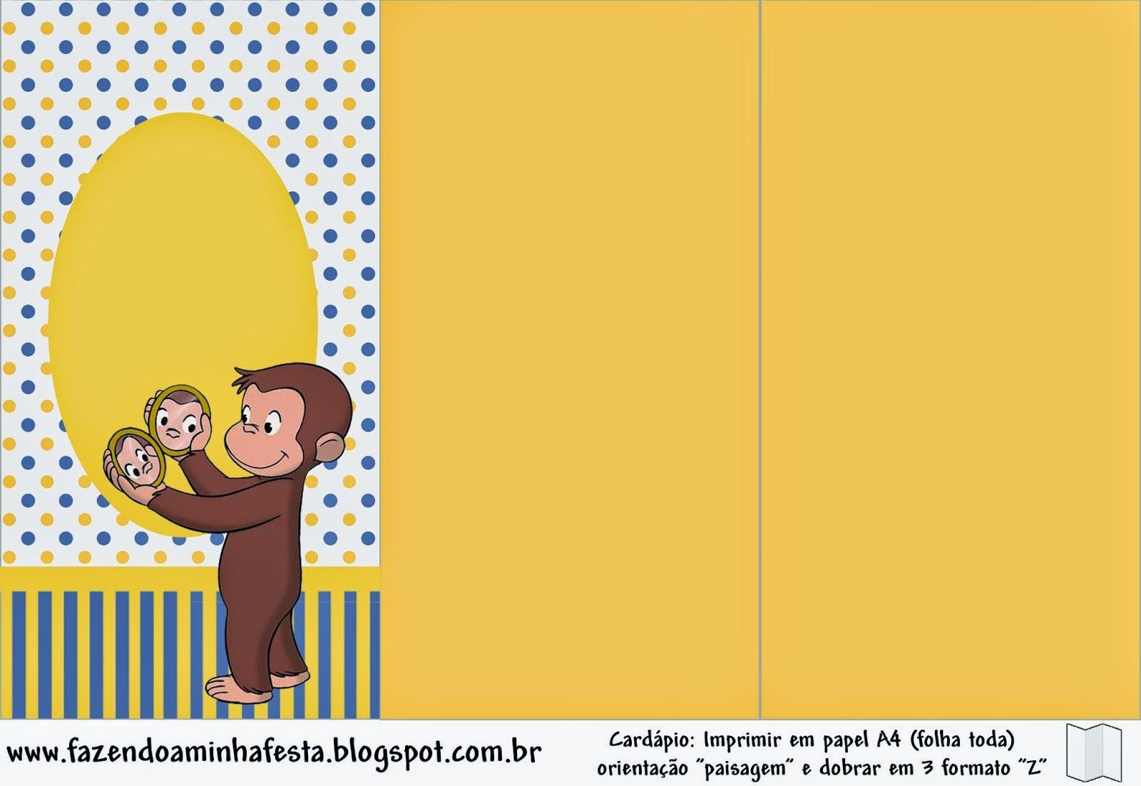 Jorge el Curioso: Imprimibles de Fiesta Gratis. | Ideas y material ...