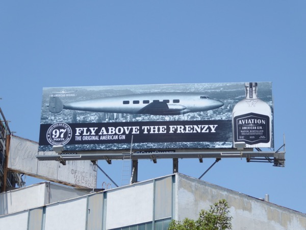 Fly frenzy Aviation Gin billboard