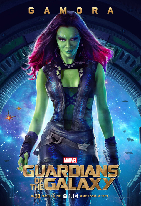 Poster Guardians Of The Galaxy: Gamora (Zoe Saldana)