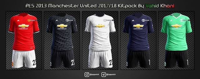 cc1e5963814 Manchester United 2017-18 Kits - PES 2013 - PATCH PES