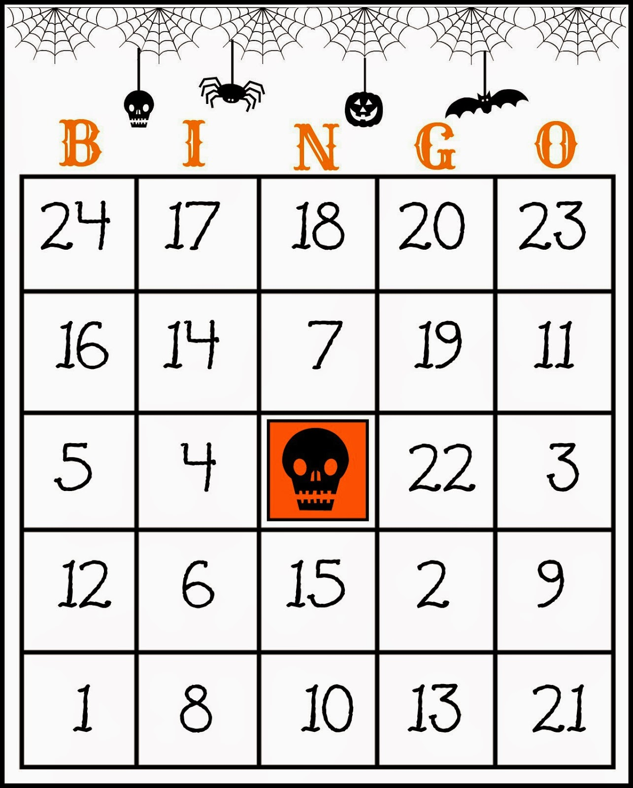graphic regarding Free Printable Halloween Bingo Cards referred to as Cunning within Crosby: Totally free Printable Halloween Bingo Match