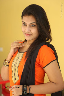 Telugu Actress Chandana Stills in Salwar Kameez at Karam Dosa Movie Press Meet  0057.JPG