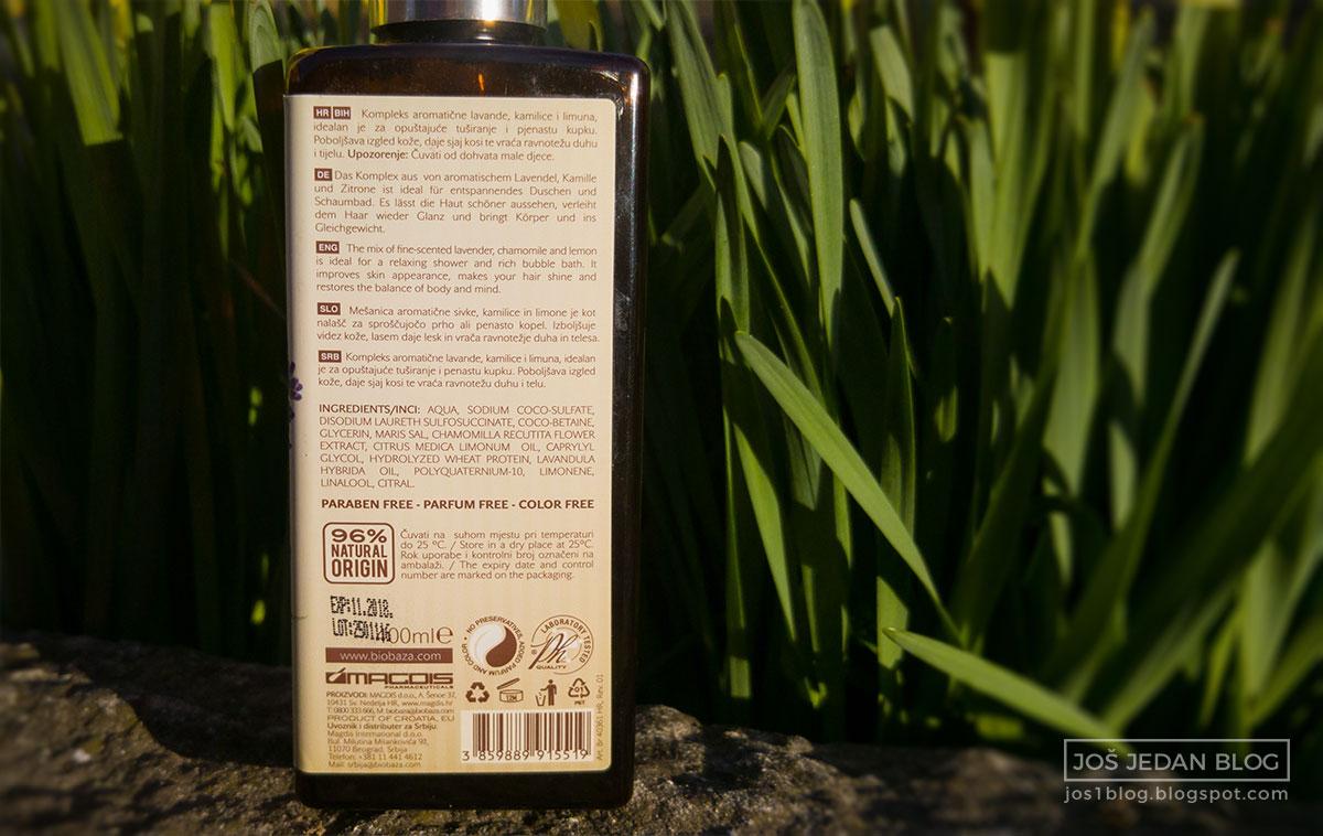 Biobaza 3 u 1 gel za tuširanje lavanda i limun recenzija, utisci, sastojci, blog