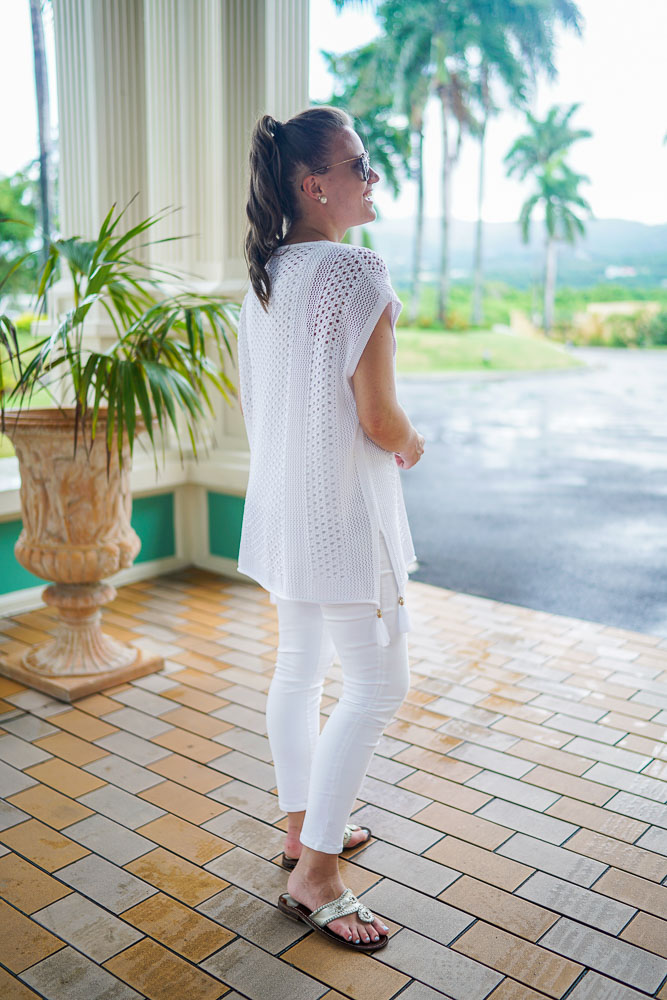 Krista Robertson, Covering the Bases,Travel Blog, NYC Blog, Preppy Blog, Style, Fashion, Fashion Blog, Travel, Jack Rogers, Lilly Pulitzer, All White Outfits, Summer Style, Beachwear,  Jewel Paradise Cove Jamaica, Beach Vacation Style, Resort Wear