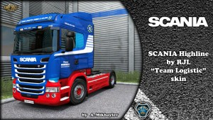Team Logistic Skin Scania RJL