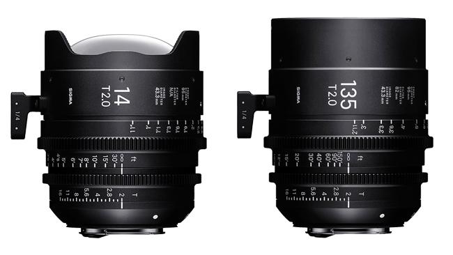 Объективы Sigma 14mm T2 FF и 135mm T2 FF