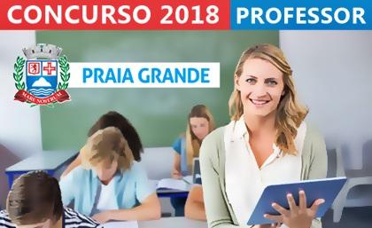 Concurso Prefeitura de Praia Grande 2018 - Professor