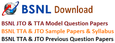 BSNL JTO & TTA Model Papers 2017 Key