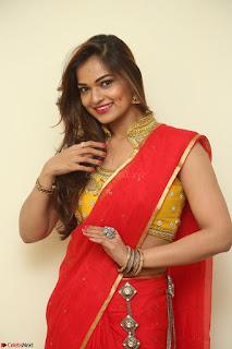 Actress Ashwini in Golden choli Red saree Spicy Pics ~  066.JPG